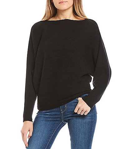 Say What Ribbed Dolman Sleeve Sweater