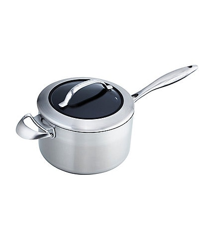 Scanpan CTX 4-Quart Covered Saucepan with Helper Handle