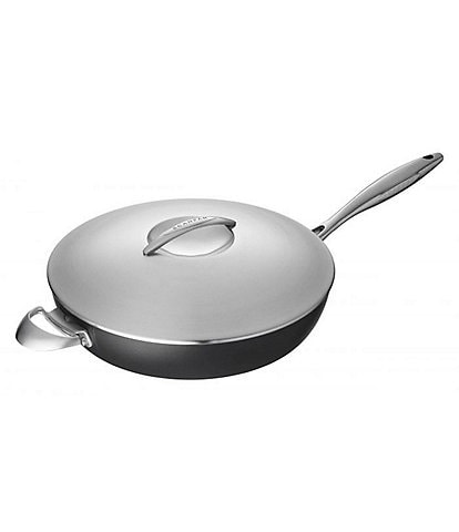 Scanpan Professional 4.25-Quart Saute Pan with Steel Lid