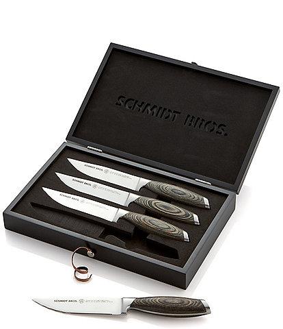 Schmidt Brothers Cutlery Bonded Ash 4-Piece Jumbo Steak Knife Set