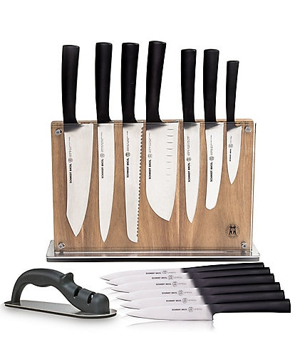 Schmidt Brothers Cutlery Carbon 6 15-Piece Knife Block Set