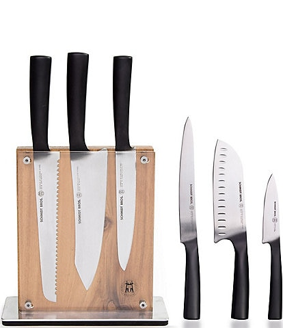 Schmidt Brothers Cutlery Carbon 6 7-Piece Knife Block Set