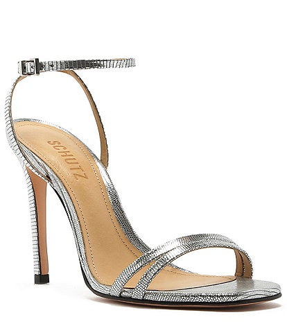 Schutz Altina Leather Ankle Strap Dress Sandals