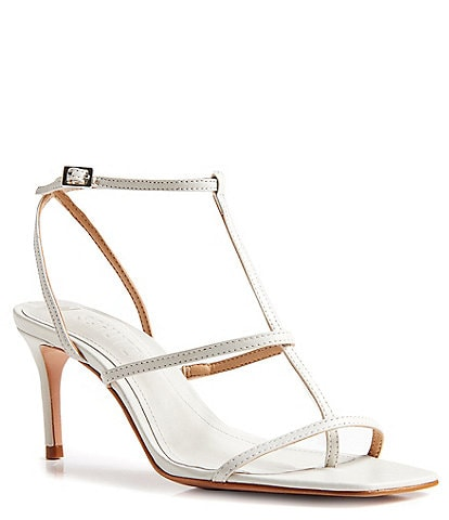 Schutz Ameena Leather Thong Dress Sandals