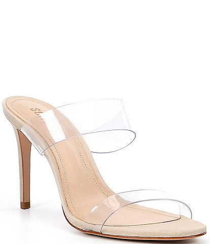 Schutz Ariella Transparent Clear High Heel Dress Sandals