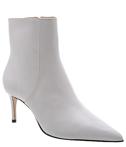 Schutz Bette Leather Ankle Pointed Toe Booties