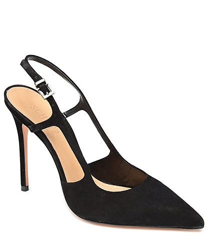 Schutz Boris Suede Sling Dress Pumps