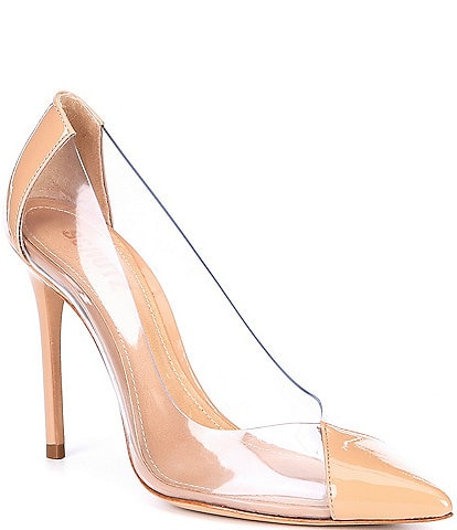 Schutz Cendi Patent Leather Transparent Pumps
