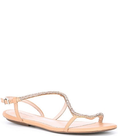 Schutz Georgia Lee Asymmetrical Leather Embellished Sandals