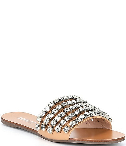 Schutz Jeanine Crystal Embellished Detail Sandals
