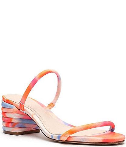 Schutz Kyra Tie-Dye Suede Dress Sandals