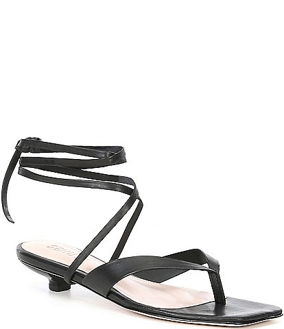 Schutz Leni Leather Ankle Strap Dress Sandals