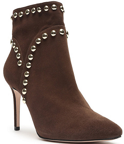 Schutz Lilly Suede Studded Detail Booties
