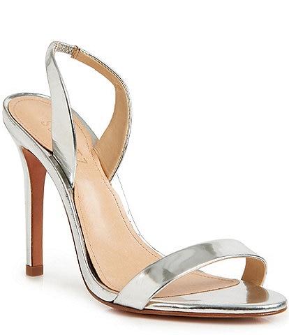 Schutz Luriane Leather Sling Dress Sandals