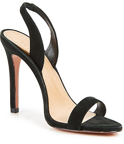 Schutz Luriane Suede Dress Sling Sandals