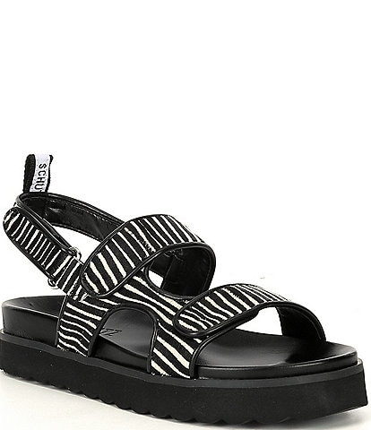 Schutz Zaha Zebra Print Haircalf Sandals