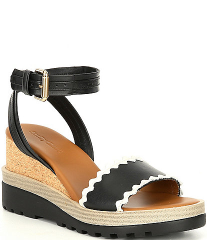 See By Chloe Robin Leather Wedges