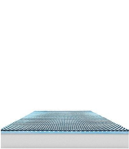 Sensorpedic Charcoal 2.5-Inch Hybrid Sensorwell Memory Foam Topper