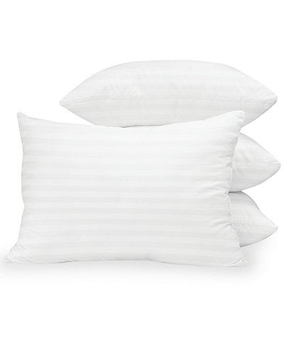 Sensorpedic Down Alternative Bed Pillow with 300 Thread Count Cotton Cover, 4pk