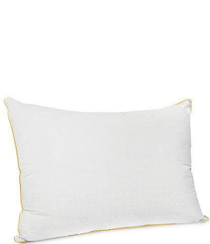 Sensorpedic Wellness Collection Fiber Bed Pillow with Vitamin E Infused Fabric Cover