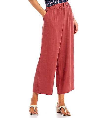 Shabby Chic Quentin Wide Leg Cropped Paperbag Waist Pants