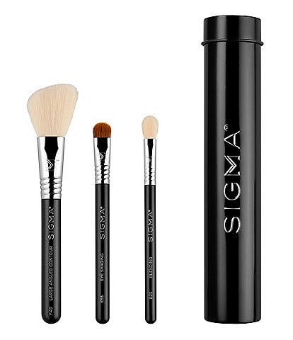 Sigma Beauty Essential Trio Brush Set- Black