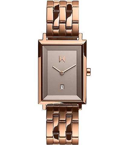 Signature Square Hayden Rose Gold Quartz Analog Bracelet Watch