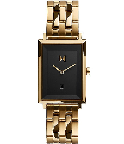 Signature Square Mason Gold Stainless Steel Bracelet Watch