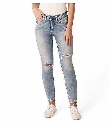 Silver Jeans Co. Avery Destructed Skinny Jeans