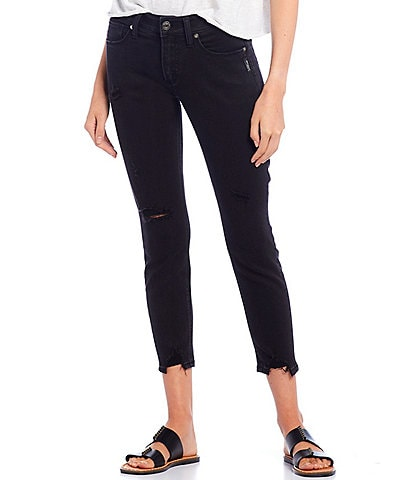 Silver Jeans Co. Avery Destructed Cropped Skinny Jeans
