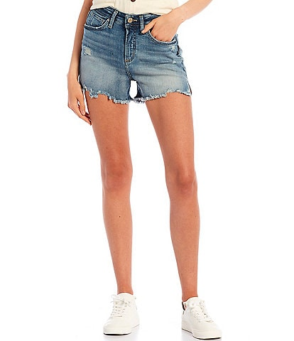 Silver Jeans Co. Avery High Rise Raw Edge Cut-Off Shorts