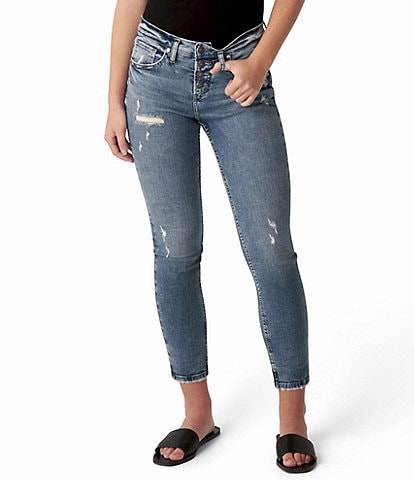 Silver Jeans Co. Beau 28#double; Inseam Distressed Sustainable Girlfriend Jeans