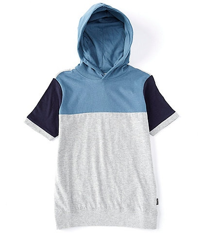 Silver Jeans Co. Big Boys 8-20 Short-Sleeve Colorblock Hooded Tee