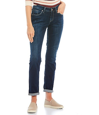 Silver Jeans Co. Boyfriend Rolled Cuff Dark Wash Jeans