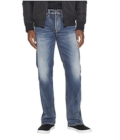 Silver Jeans Co. Craig Stretch Easy Fit Bootcut Dark Wash Jeans
