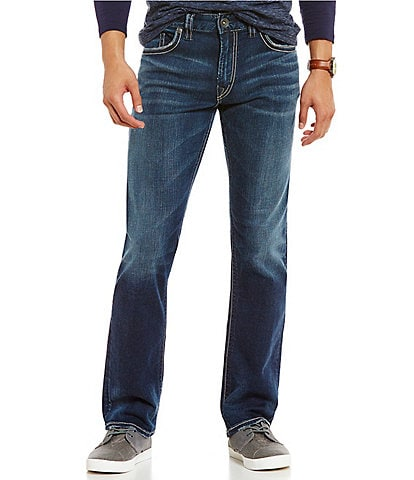 Silver Jeans Co. Eddie Relaxed Tapered-Fit Dark Wash Jeans