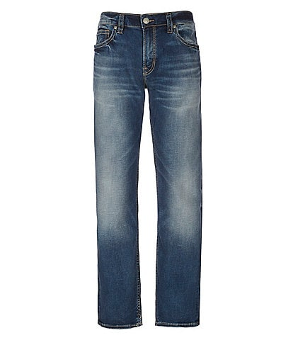 b969a41a Silver Jeans Co. Eddie Relaxed Tapered-Fit Super-Stretch Jeans