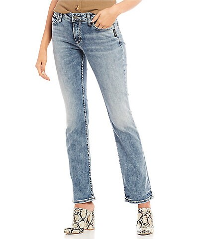 Silver Jeans Co. Elyse Mid Rise Slim Bootcut Jeans