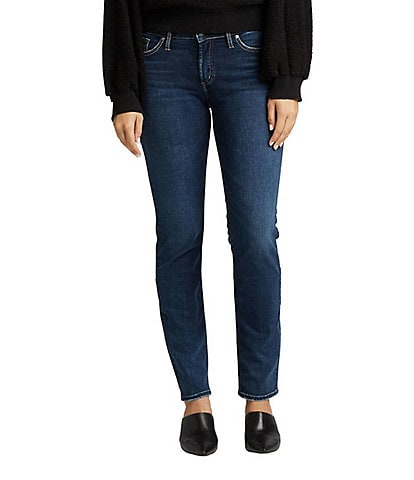 Silver Jeans Co. Elyse Mid-Rise Slim Straight Jeans