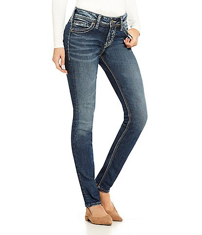 30605434317 Silver Jeans Co. Elyse Super Stretch Skinny Jeans