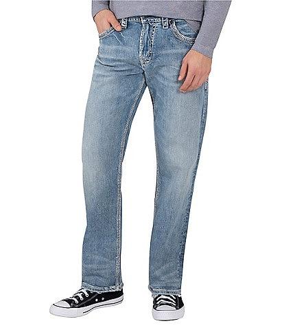 Silver Jeans Co. Gordie Flap-Pocket Loose Straight-Leg Jeans