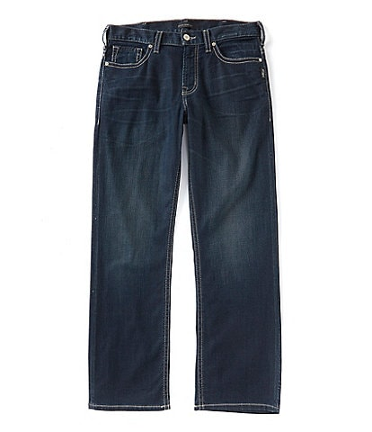 05477023 Silver Jeans Co. Gordie Loose Straight Dark Wash Jeans