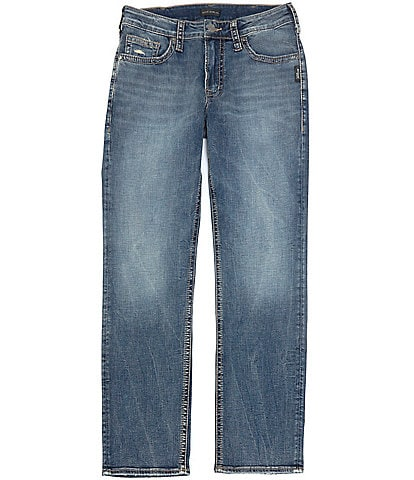Silver Jeans Co. Grayson Distressed Easy Classic Straight Jeans