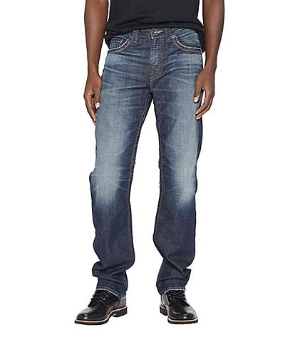 Silver Jeans Co. Hunter Athletic Tapered Fit Sulphur Indigo Comfort Stretch Jeans