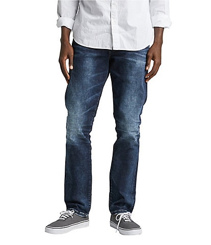 Silver Jeans Co. Machray Medium Wash Comfort Stretch Classic Straight Fit Jeans