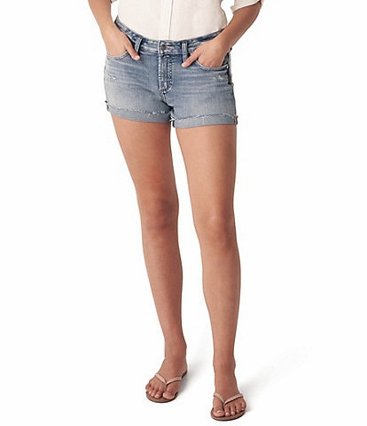 Silver Jeans Co. Mid Rise Sustainable Boyfriend Shorts