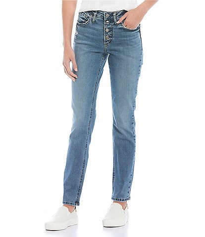 Silver Jeans Co. Most Wanted Button Front Straight Jeans