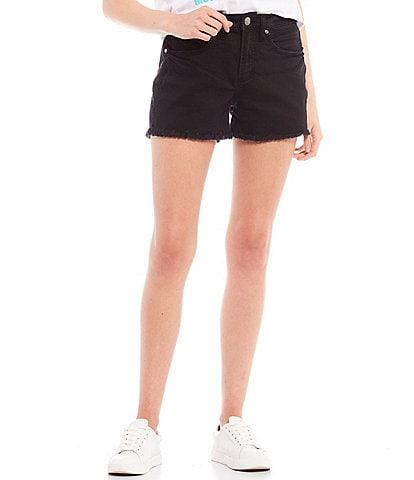 Silver Jeans Co. Not Your Boyfriend's Mid Rise Repreve Frayed Shorts