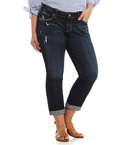 Silver Jeans Co. Plus Sam Boyfriend Jeans