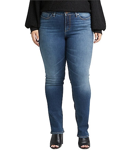Silver Jeans Co. Plus Size Avery High Rise Straight Leg Jeans